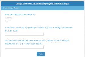 """Umfrage zum Thema """"Der Flughafen als Freizeit- und Eventdestination"""" von Anastasia Ortner"""