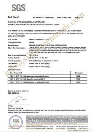 Model Of Irrevocable Credit Letter At Sight Export Forum Shanghai Spring Industrial Corporation Polyester Screen