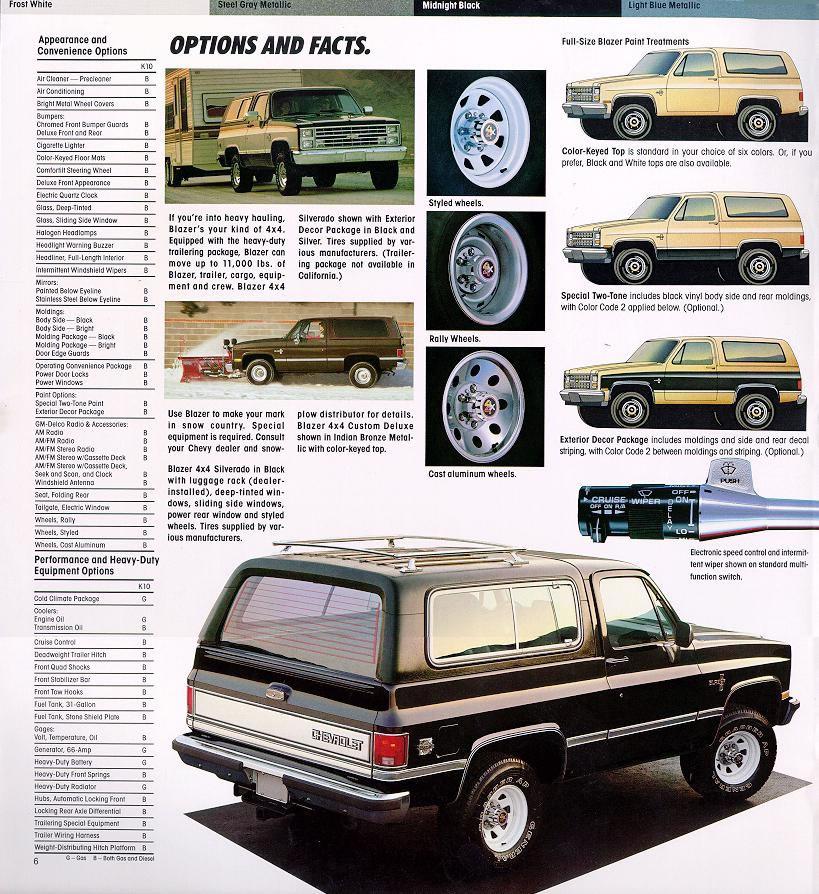 Car Brochures - 1986 Chevrolet and GMC Truck Brochures / 1986 Chevy