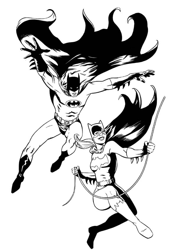 free supergirl logo coloring pages - Batman Batgirl Coloring Pages