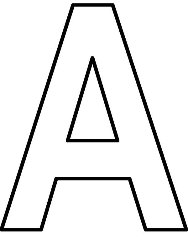 Learning Letter A Coloring Page  Best Place to Color