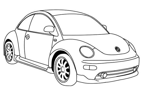 in a volkswagen beetle