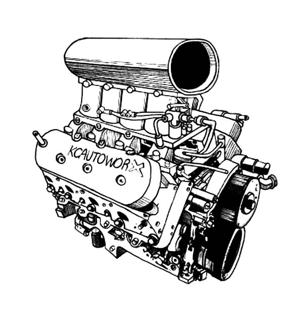 engine supercharger diagram
