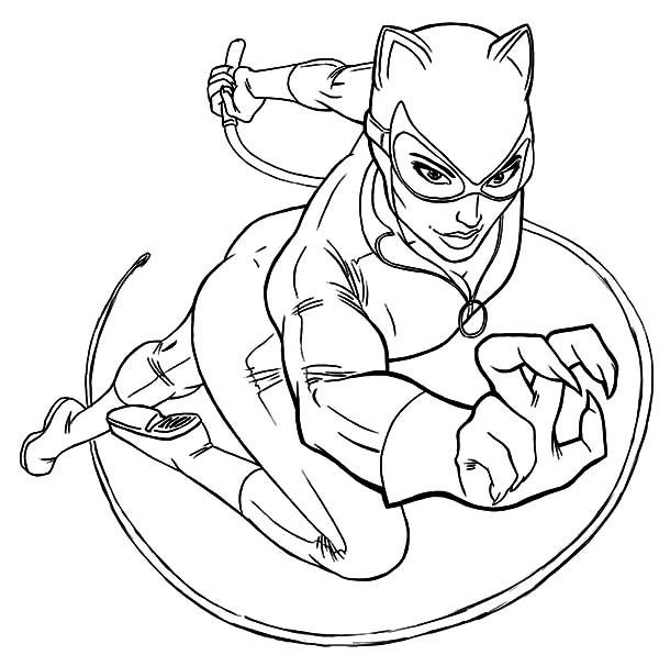 Catwoman Coloring Pages Arenda Stroy