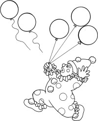 √ Clown With Balloons Coloring Page | Clown With Balloons Coloring ...