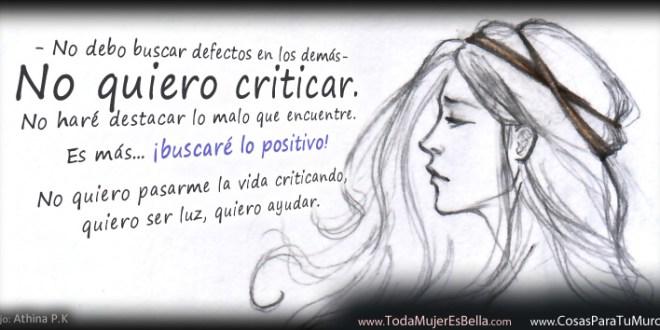 La necesidad de criticar