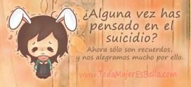 Hoy sentí miedo y fantaseé con el suicidio