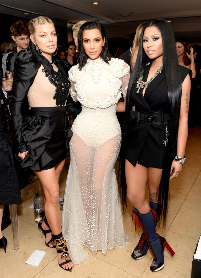 Fergie, Kim Kardashian, and Nicki Minaj