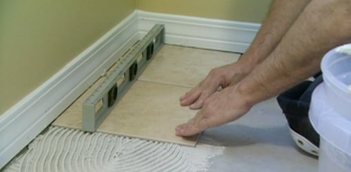 How To Tile Over Vinyl Flooring | Today'S Homeowner