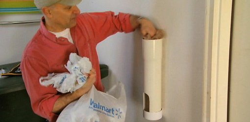 Diy Plastic Bag Storage Tube From Pvc Pipe Today39s Homeowner