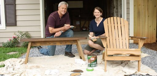 How To Clean And Stain Outdoor Wood Furniture | Today'S Homeowner
