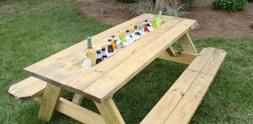 How To Make A Picnic Table Drink Trough Today39s Homeowner