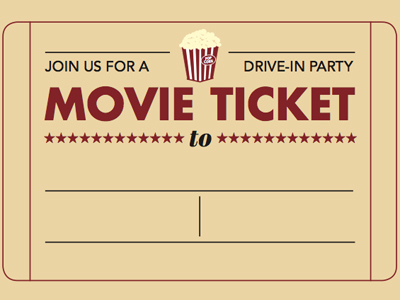theatre ticket template - printable ticket invitations