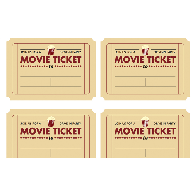 theatre ticket template free - movie invitation template free