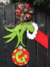 Grinch Door & Christmas Door Decorations For Office