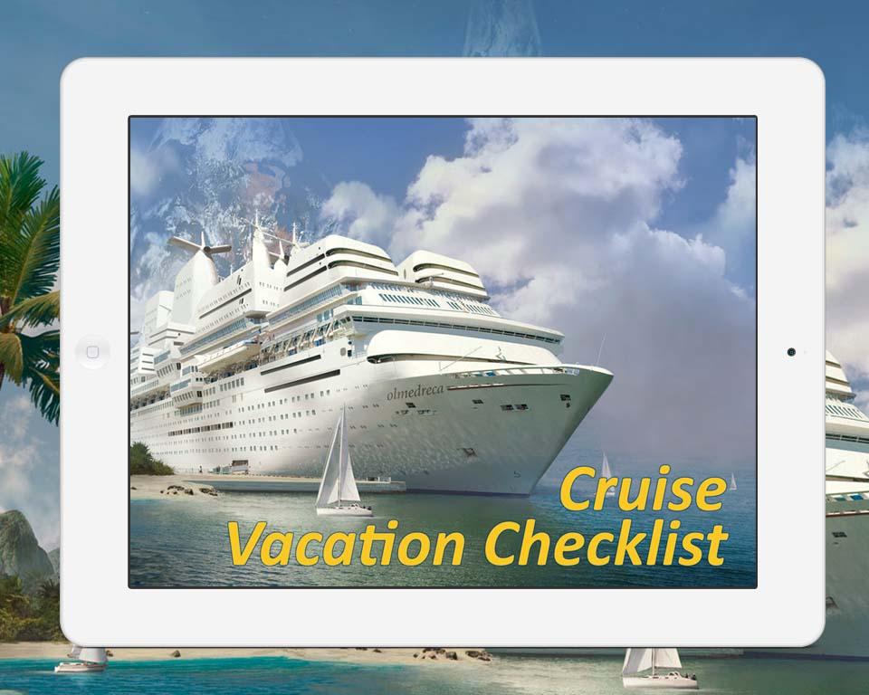 Cruise Vacation Checklist - To Do List, Organizer, Checklist, PIM