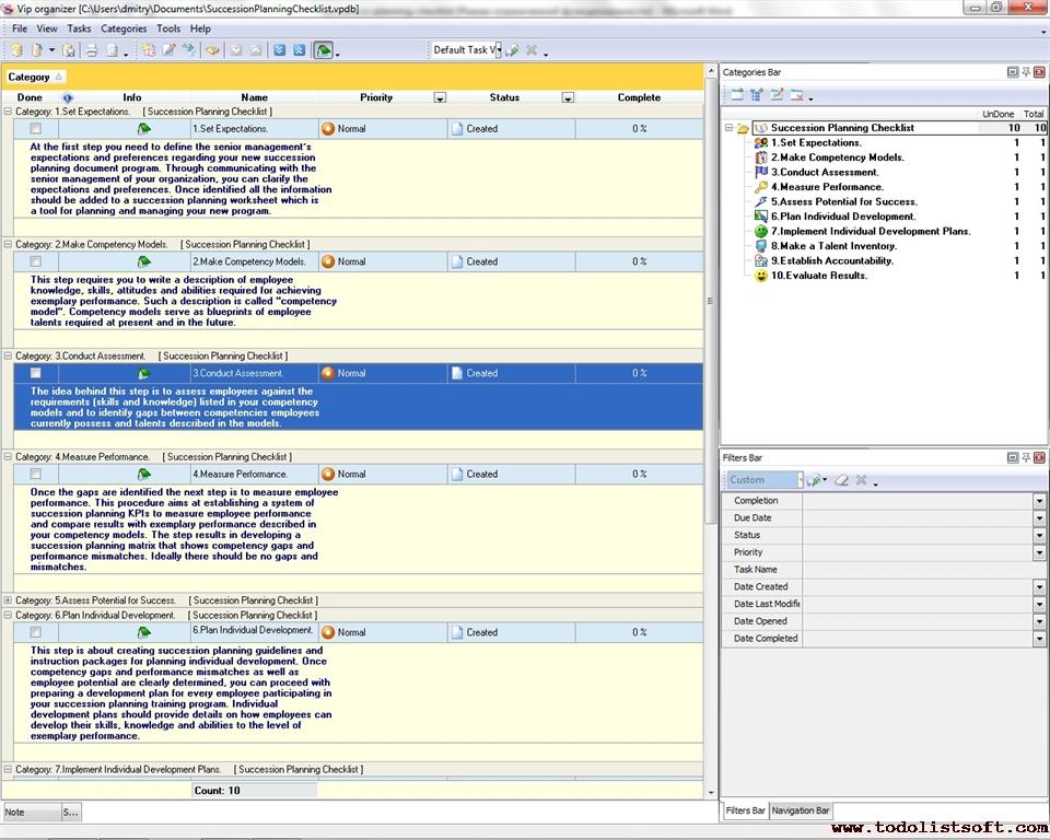 Business Checklists To Do List Organizer Checklist