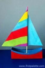Como hacer un velero con cajas