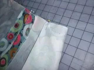 como hacer un porta pañales de tela