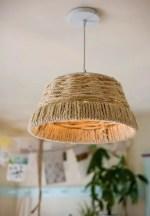 Como hacer una lampara colgante tejida