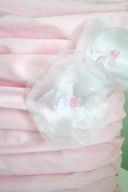 manualidades flores tela
