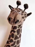 Como hacer un títere de jirafa con un calcetin