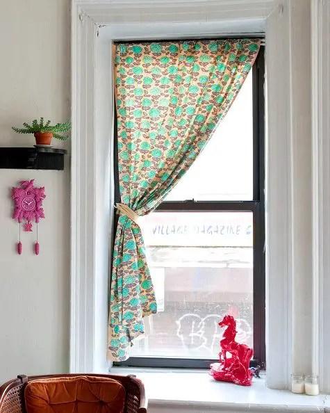 como hacer una cortina de tela