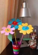 Como hacer flores de cartulina con diversas formas