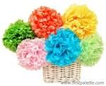 Como hacer flores mejicanas con papel Tissue