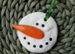 Manualidades para arbol navidad: ornamento con masa de sal