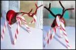 Manualidades en navidad para niños: reno con baston de caramelo