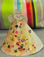 Trabajos manuales para niños de navidad: Ángel de papel