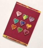Como hacer una tarjeta de San Valentín con papel jaspeado