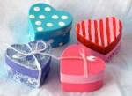 Como hacer cajitas con forma de corazon para San Valentin