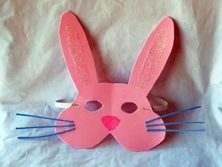 mascara de conejo de pascua