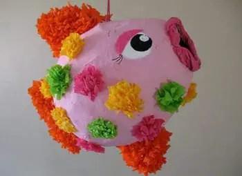 como hacer piñatas de globos