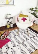 Como hacer una alfombra tejida a mano