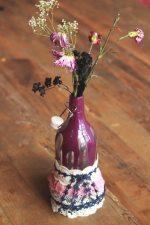Reciclar una botella en un florero