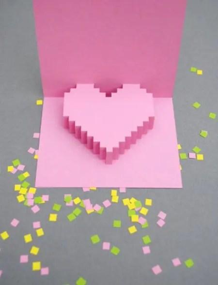 como hacer tarjetas de san valentin en 3d