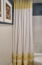 Como hacer una cortina de baño con volados