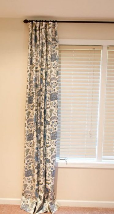 como hacer cortinas de tela para ventanas