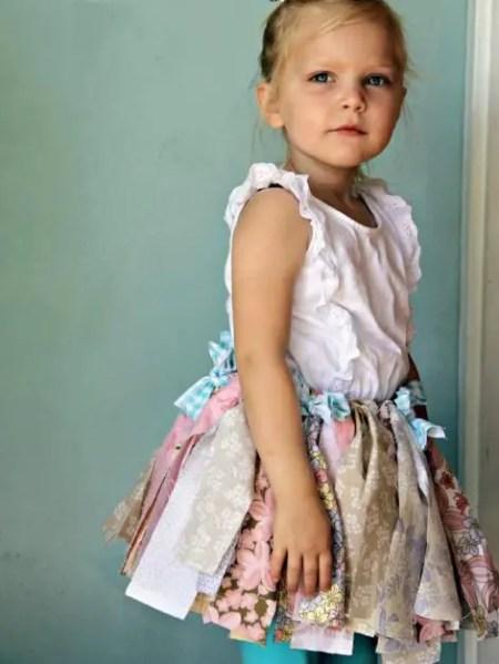 como hacer una falda para niñas