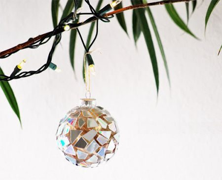 como hacer esferas navideñas recicladas
