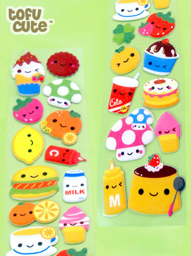 Cute Squishies Wallpaper Buy Super Long Kawaii Happy Food Sticker Sheet At Tofu Cute