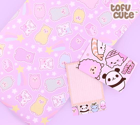 Cute Llamacorn Wallpaper Buy Tofu Cute Gift Wrap Set Kawaii Pastel Alpaca