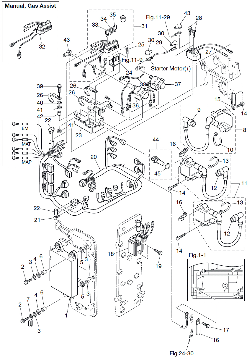 Tohatsu Outboard Wiring Harness Diagram Auto Electrical