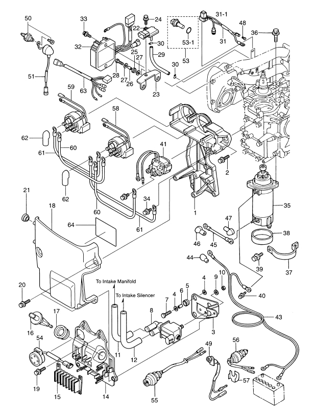 outboard tachometer wiring diagram