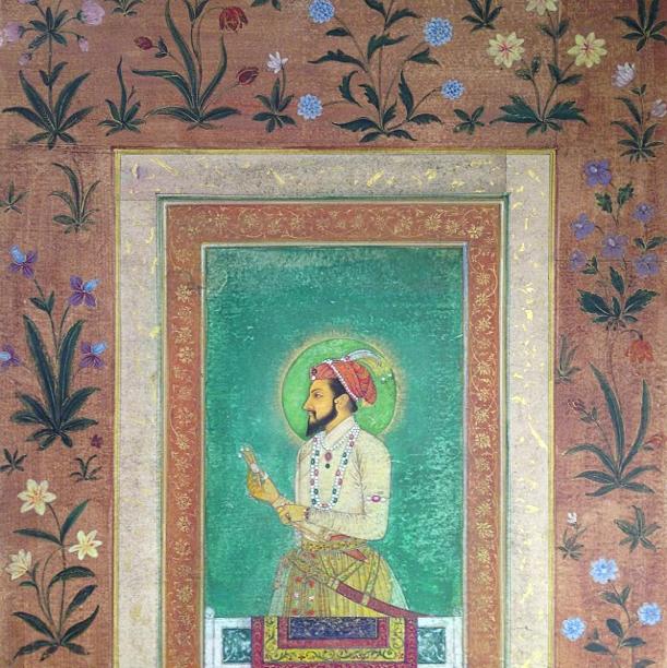 Indian Miniature Painting Shahjahan Taj Majal Rohit New Delhi Mughal Flowers