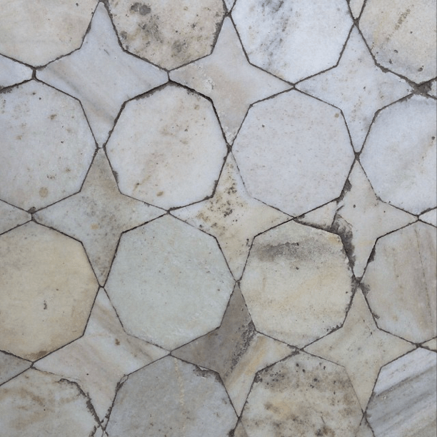 Marble mosaic floor Red Fort Agra India