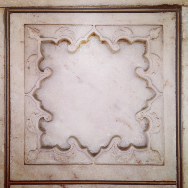 Marble square Red Fort Agra